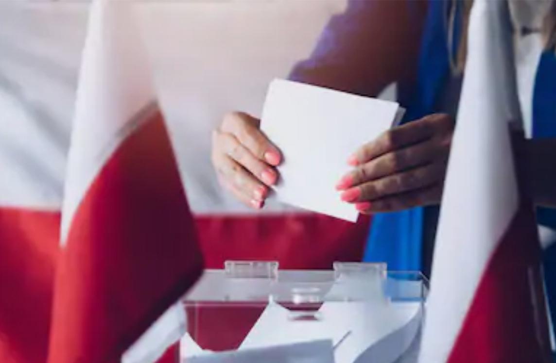 Il s'agit d'une illustration de vote lors des élections législatives en Pologne.
