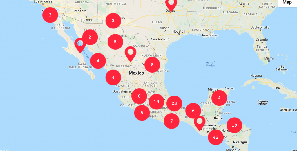 Cartographie meurtres journalistes au Mexique