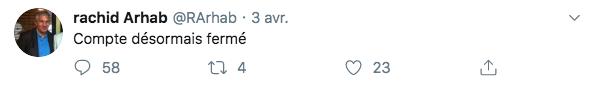 Annonce de la fermeture de son compte Twitter