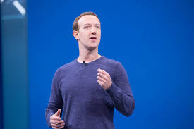 Le PDG de Mark Zuckerberg en 2018 en conférence.